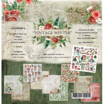 Набор бумаги для скрапбукинга Summer Studio VINTAGE WINTER 30х30см
