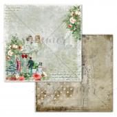 Лист бумаги для скрапбукинга Summer Studio FAMILY TIME коллекция Vintage Winter 30х30см