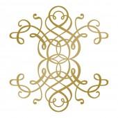 Штамп для тиснения фольгой Couture Creations CURLING MOTIF