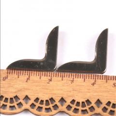 Уголки для обложки металлические ПРОСТЫЕ ЧЕРНЫЙ МЕТАЛЛ 22х22мм 4шт