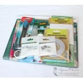 Набор инструментов и материалов для скрапбукинга ДЛЯ НАЧИНАЮЩИХ с набором для открыток