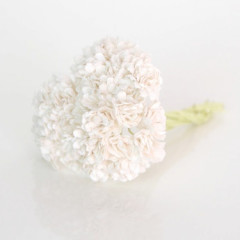 Цветы бумажные мальбери ГИПСОФИЛЫ БЕЛЫЕ 1см 10шт