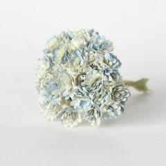 Цветы бумажные мальбери ГИПСОФИЛЫ БЕЛО-ГОЛУБЫЕ 1см 10шт