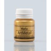 Акриловая краска металлик WizzArt ARTMETALL 20мл ЗОЛОТО
