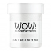 Пудра для эмбоссинга WOW CLEAR GLOSS - Super Fine