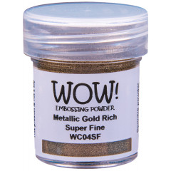 Пудра для эмбоссинга WOW METALLIC GOLD RICH - Super Fine