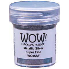 Пудра для эмбоссинга WOW METALLIC SILVER - Super Fine