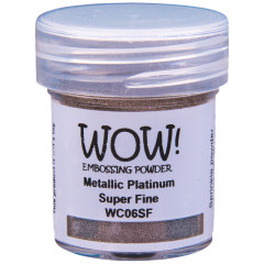 Пудра для эмбоссинга WOW METALLIC PLATINUM - Super Fine