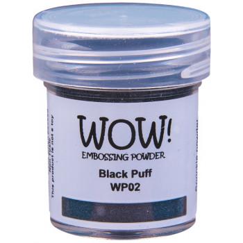 Пудра для эмбоссинга с текстурой WOW BLACK PUFF