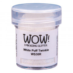 Пудра для эмбоссинга с глиттером WOW WHITE PUFF TWINKLE