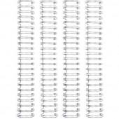 Пружины для биндера We R Memory Keepers 1,58см SILVER 4шт цвет серебро